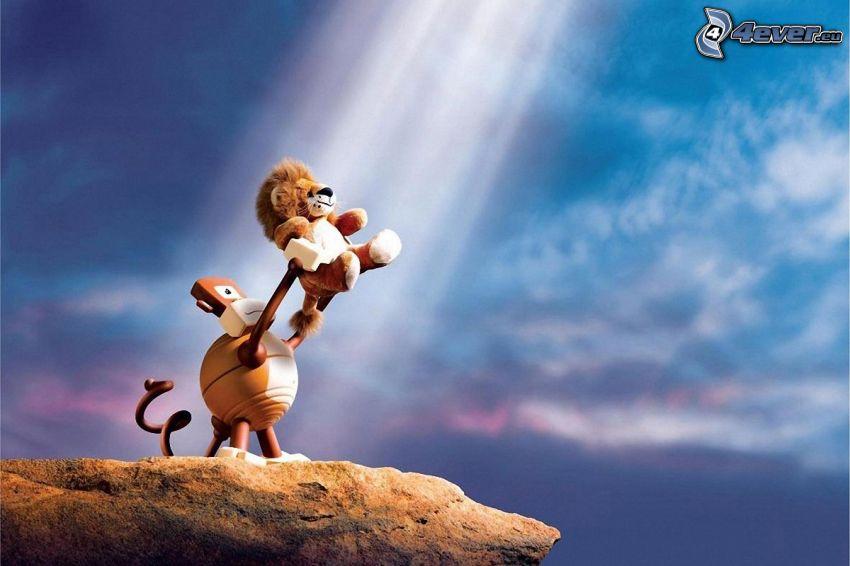 Król lew, małpa