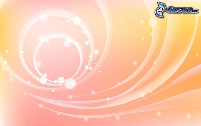 biele pásy, kruhy, ružové pozadie