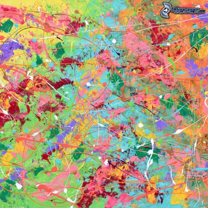 farebné čiary, farebné machule