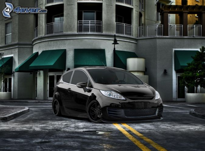 Ford Fiesta, lowrider, tuning, dom