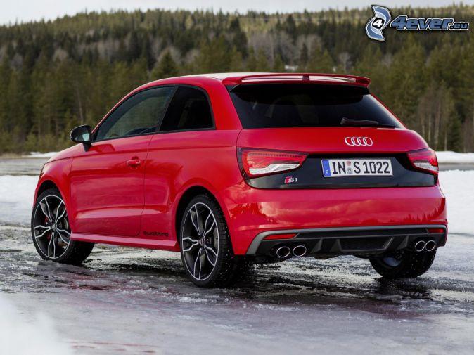 Audi S1, les, ľad