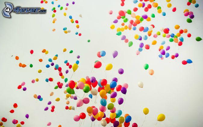 balóny, farby