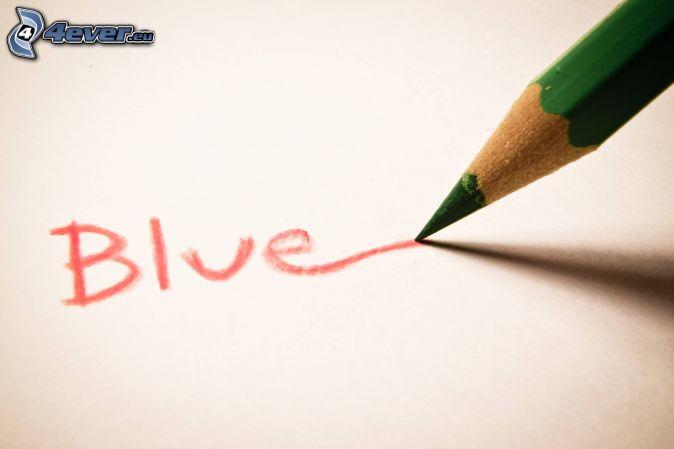 Blue, ceruzka