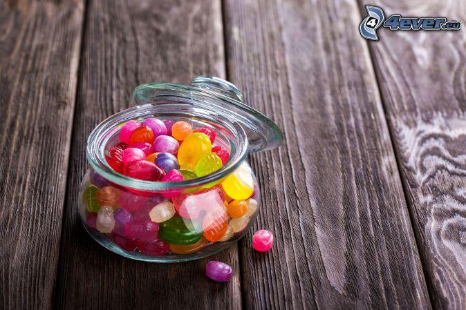 cukríky, miska, dosky