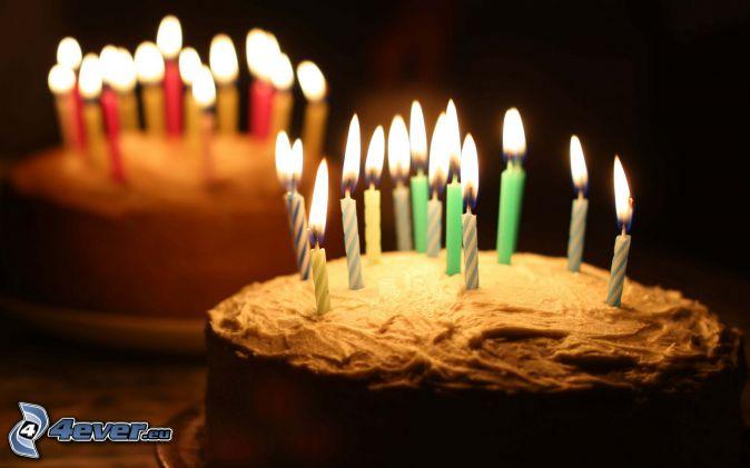 torta, sviečky