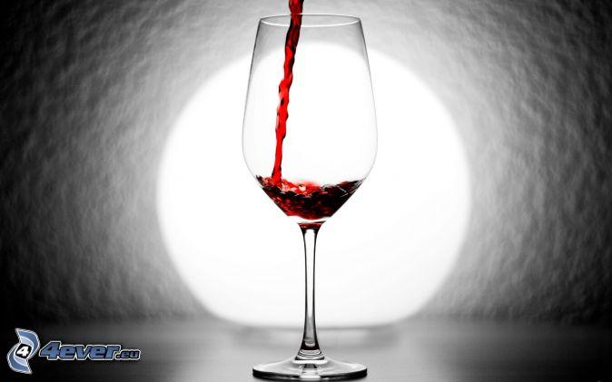Víno , pohár