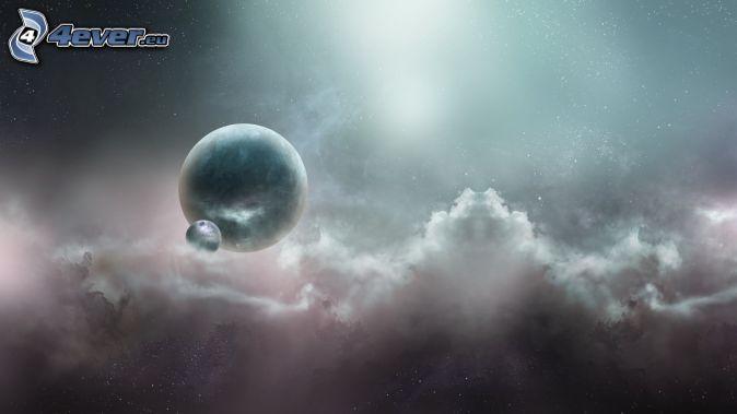 planéty, oblaky
