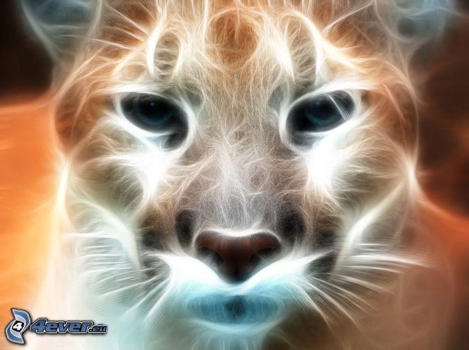 puma, fraktálové zvieratá