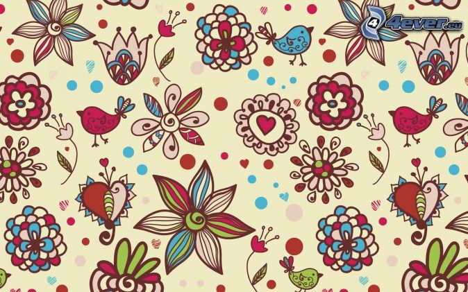 Kreslené Kvety