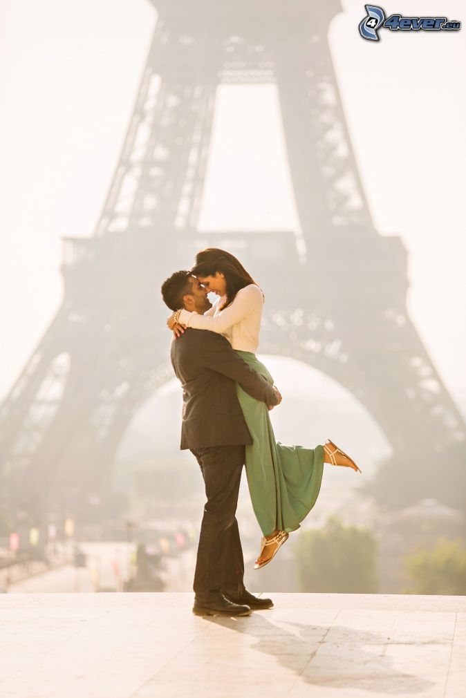 párik, objatie, Eiffelova veža