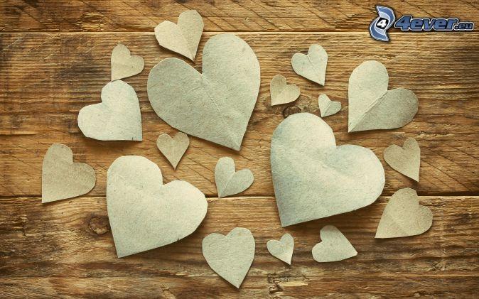 papierové srdce