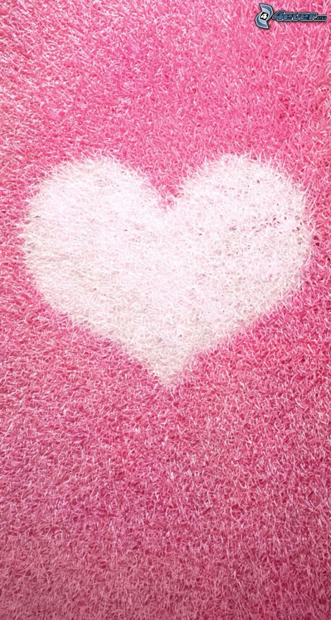 srdiečko, ružové pozadie