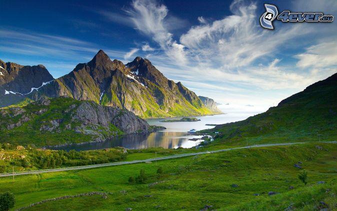 skalnaté hory, rieka, lúky