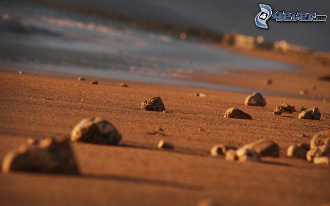 kamene, piesok