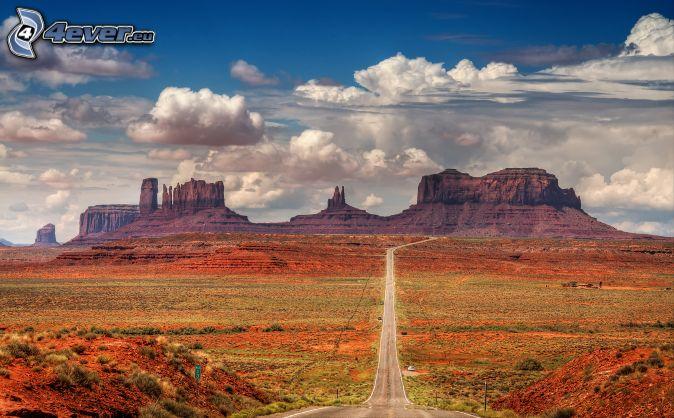 cesta cez Monument Valley