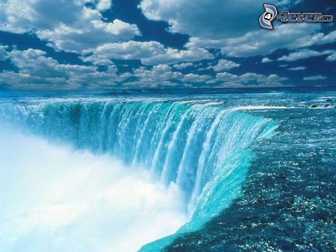 Niagarské vodopády , oblaky , voda
