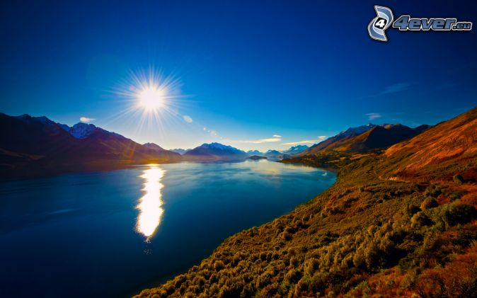 rieka, slnko