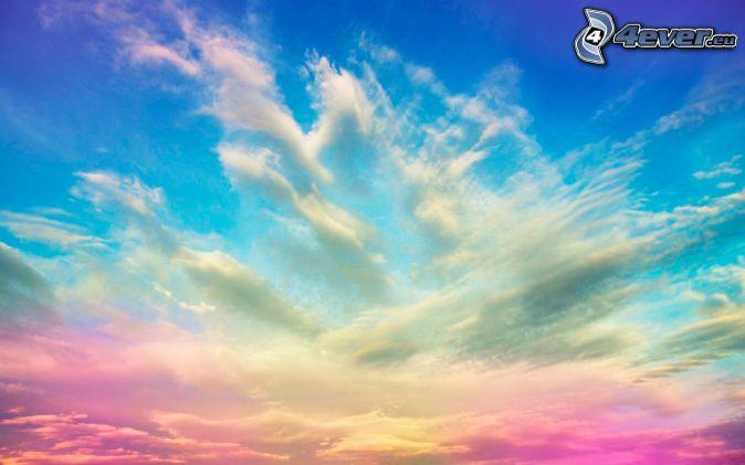 farebná obloha, oblaky