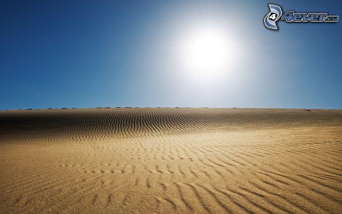 púšť, slnko