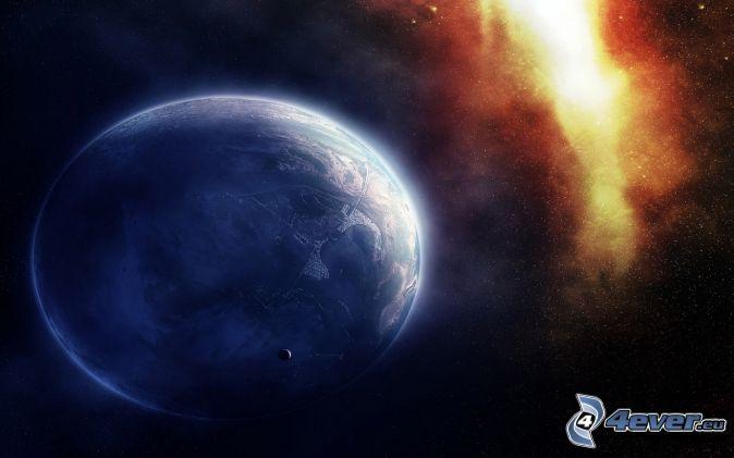 planéta, hmlovina