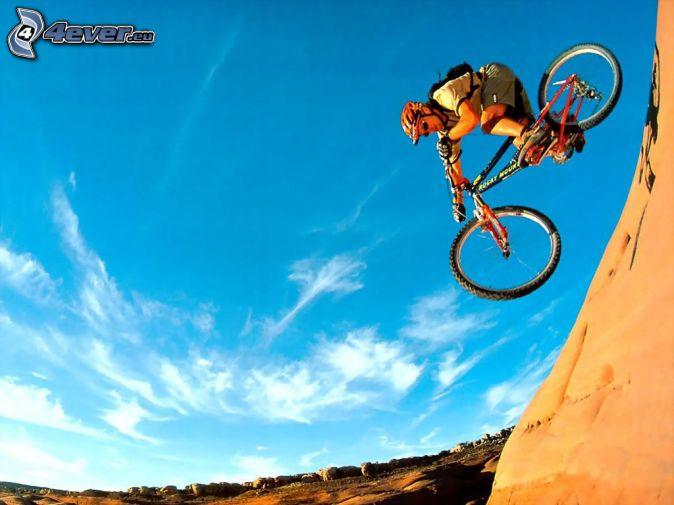 cyklista, skok