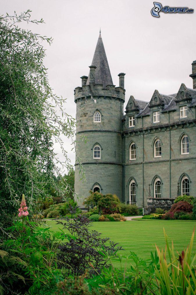 hrad Inveraray, park