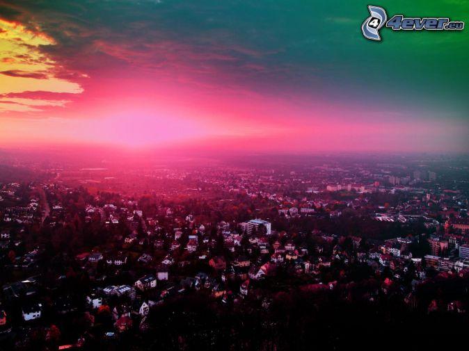 večerné mesto