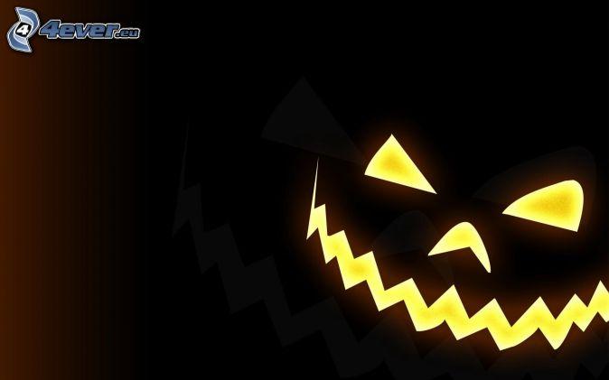 halloweenska tekvica, kreslené