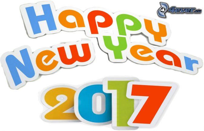 šťastný nový rok, 2017, happy new year