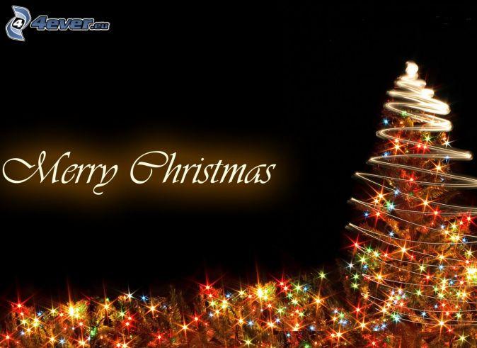 Merry Christmas, vianočný stromček