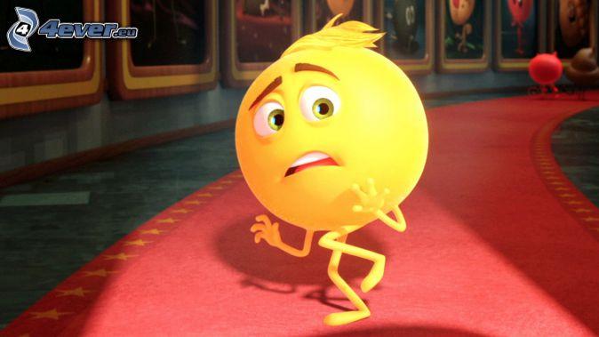 emoji movie, smajlík, strach