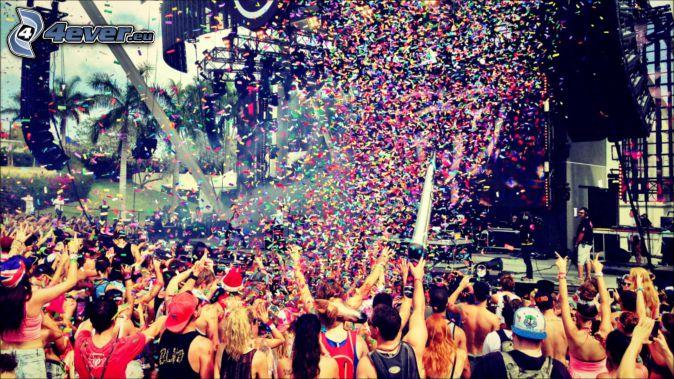 koncert, fanúšikovia
