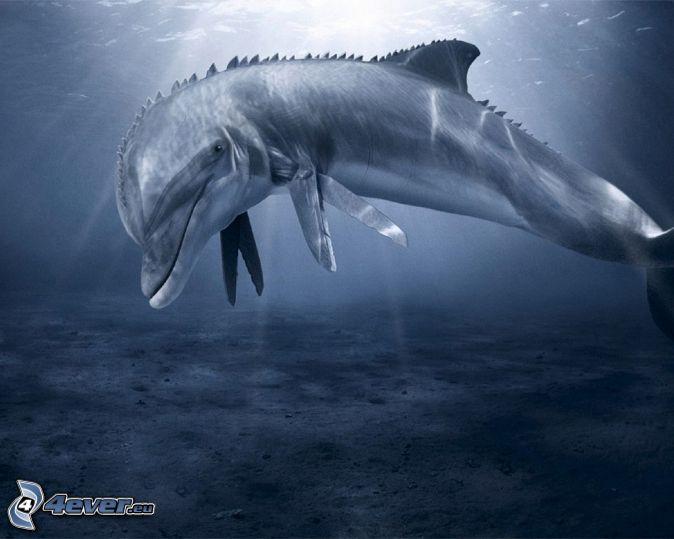delfín, sci-fi