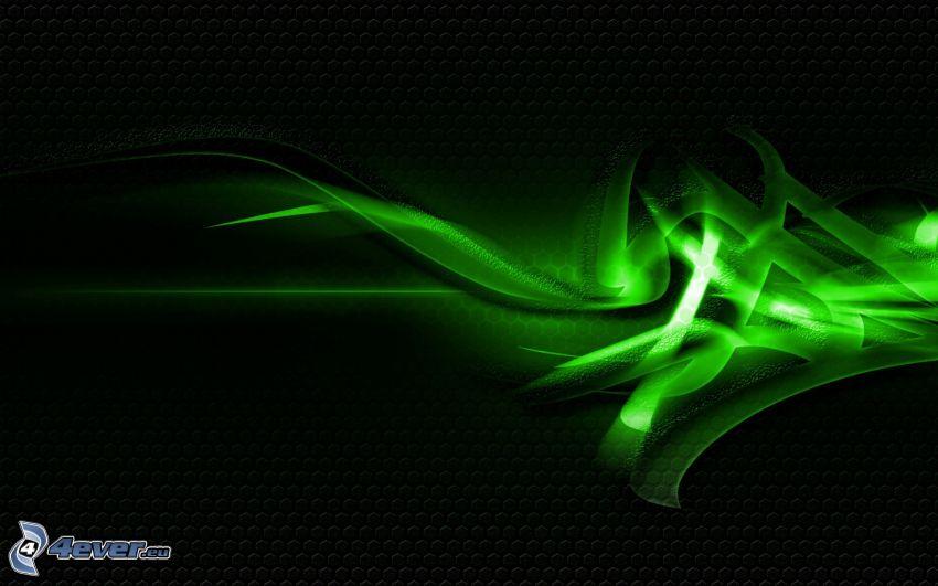 abstrakt, zelená
