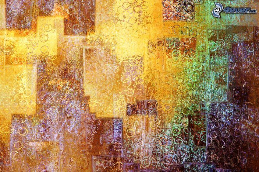 abstraktné pozadie, krúžky