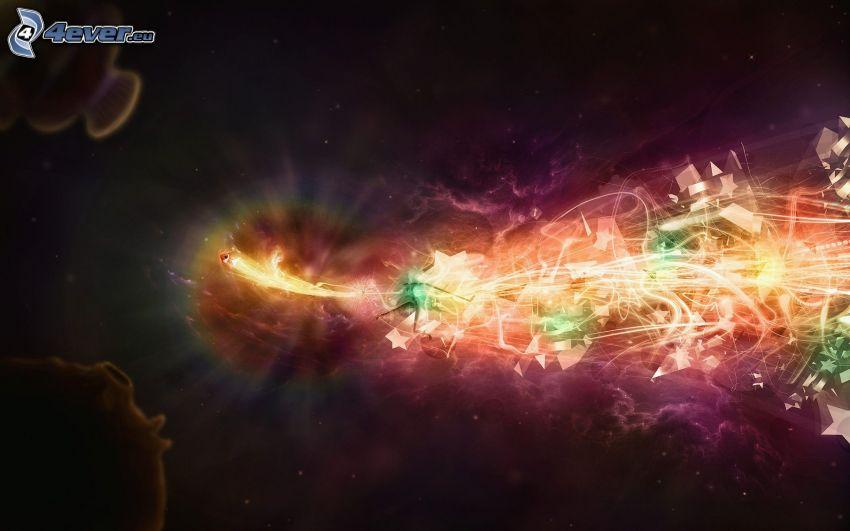 abstraktné pozadie, svetelná hra