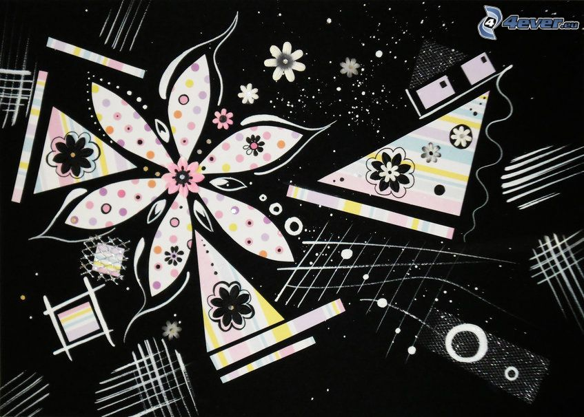 abstraktný kvet