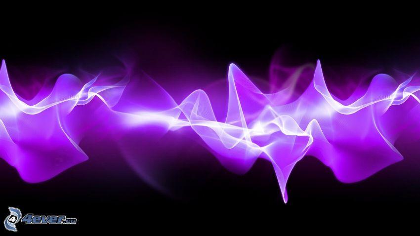 biele čiary, dym, fialové čiary