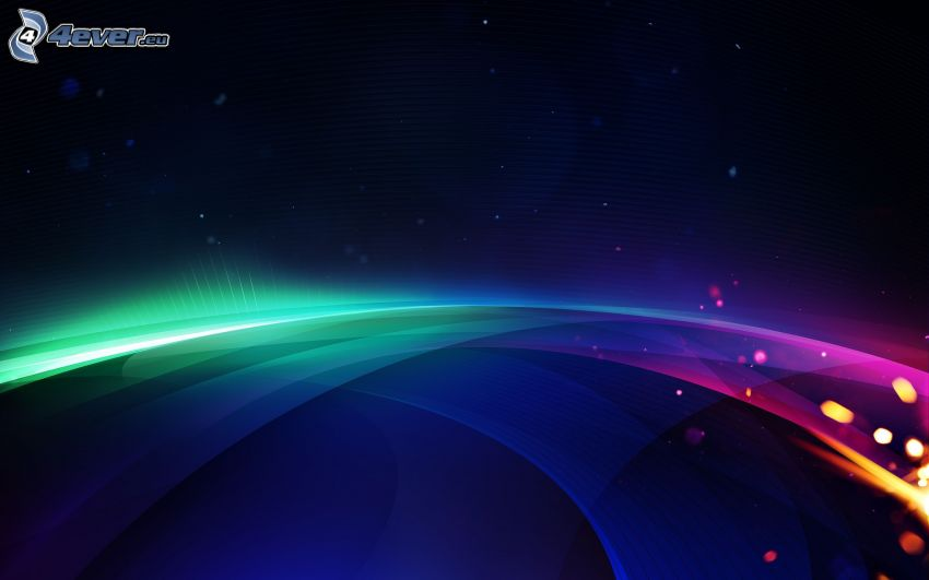 farebné čiary, modré pozadie