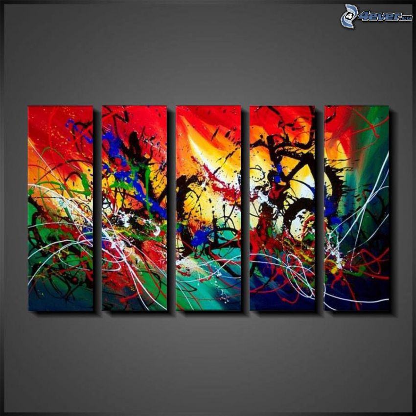 farebné obrazy, abstrakcia