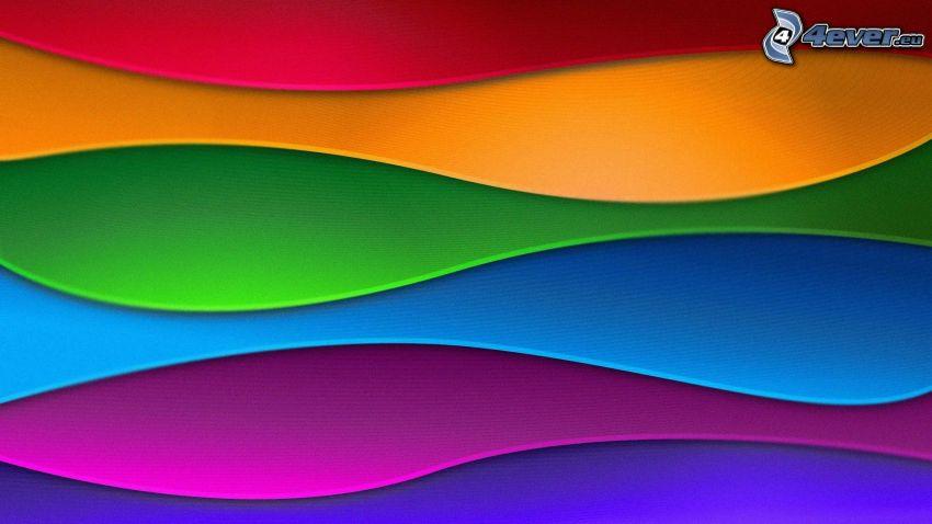farebné pásy