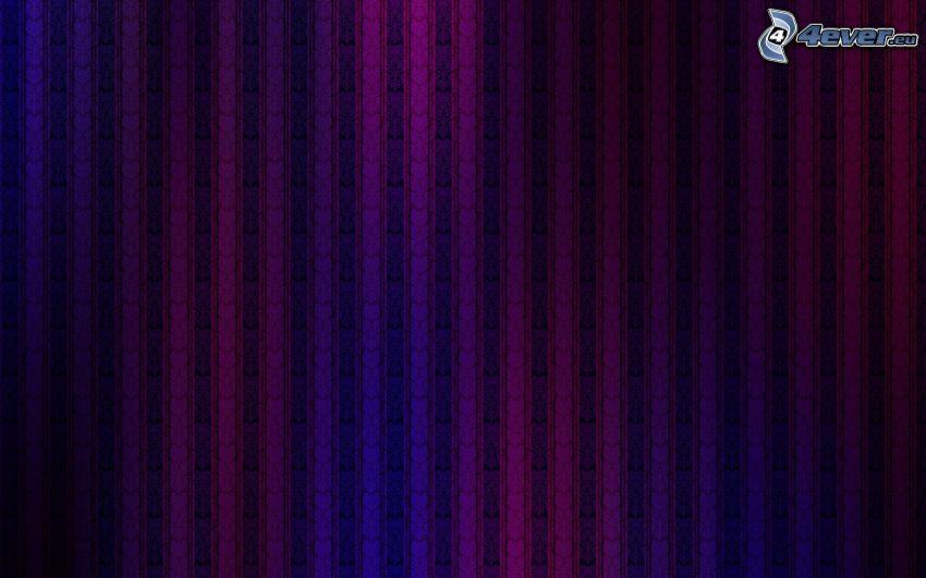 fialové pásy