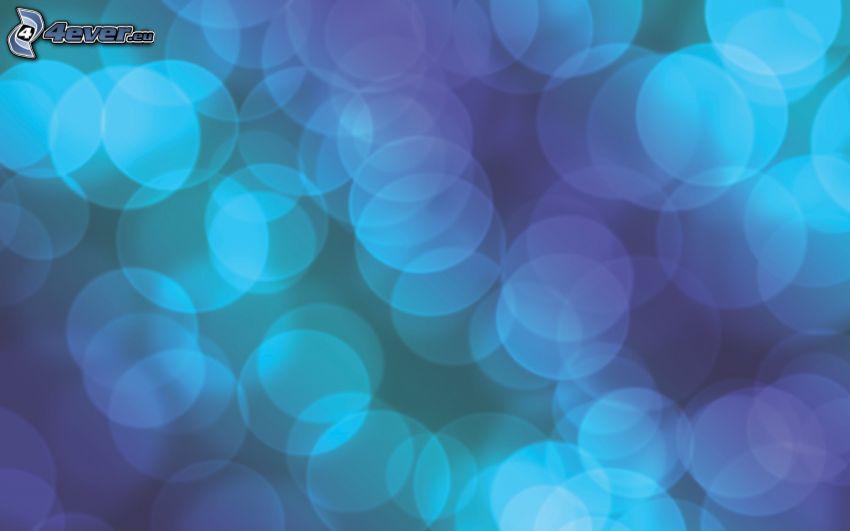 kruhy, modré pozadie