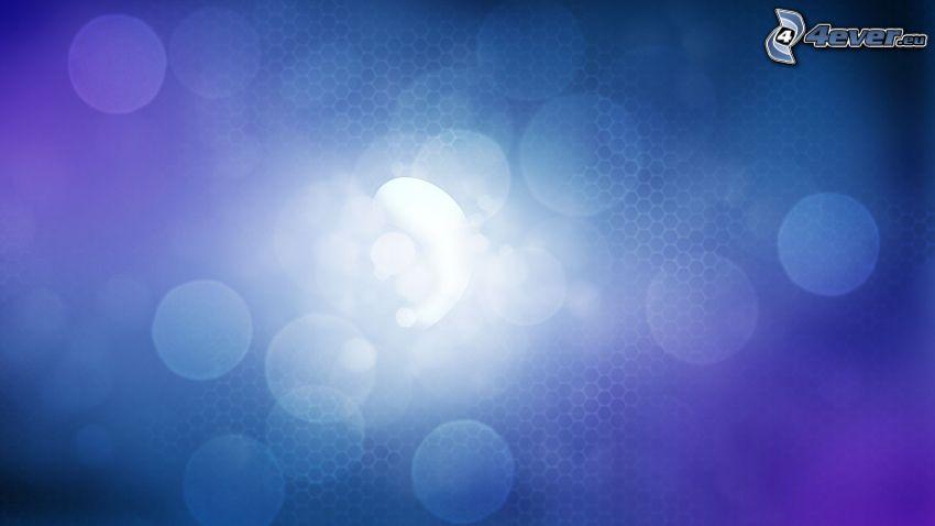 krúžky, modré pozadie