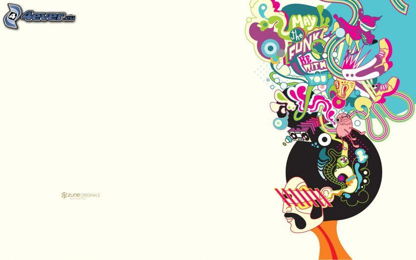 muž, abstrakt