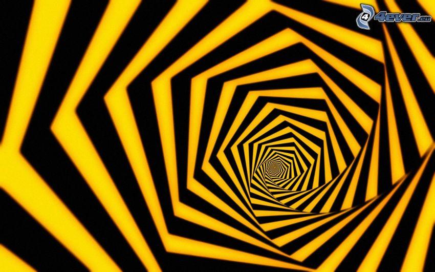 optický klam, pásy