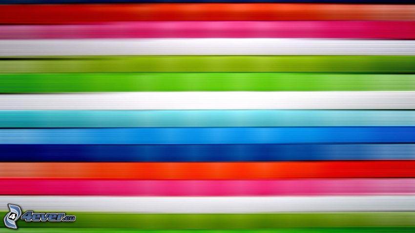 pásy, farebné čiary