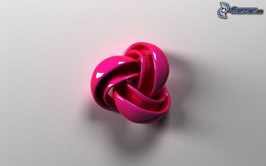 plastická hmota, abstrakt, ružová
