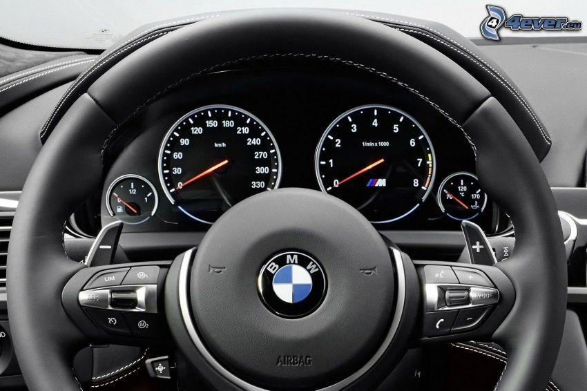 BMW M6, volant, interiér, palubná doska