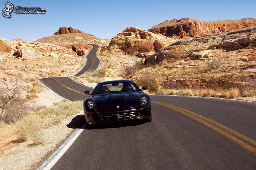 Ferrari F430 Scuderia, cesta, púštne skaly
